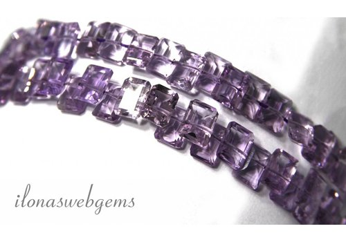 Amethyst beads facet approx 7x5x4mm
