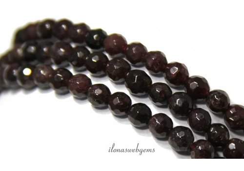 Garnet beads faceted round app. 6.5mm