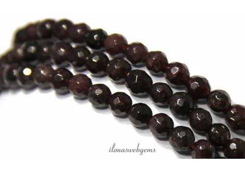 Granat Perlen facettiert ringsum 6.5mm