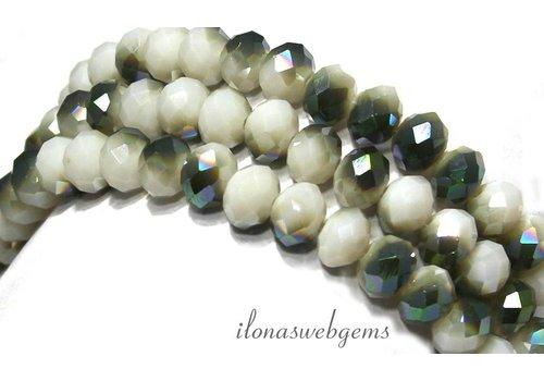 Swarovski Stil Kristall-Perlen ca. 8x6mm