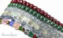 Swarovksi Stil Kristall Perlen bunt gemischt