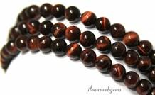 Tigereye rote Perlen um etwa 6 mm