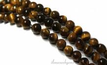 Tigerauge Perlen rund 4mm