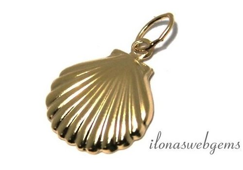 14k / 20 Gold filled bell shell about 8mm