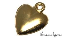 14k/20 Gold filled bedeltje hart