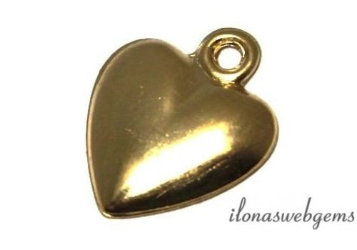 Gold filled Charm heart app. 12x10x1.5mm