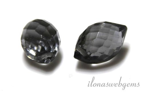 1 paar Hydro Quartz facet pear ca. 11.5x7.5mm
