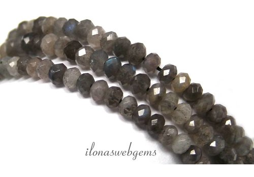 Labradorite beads facet roundel 5x4mm app. A quality