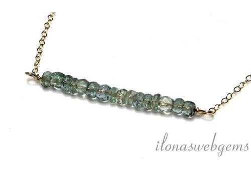 Inspiration Halskette mit Aquamarin facettiert Rondellen