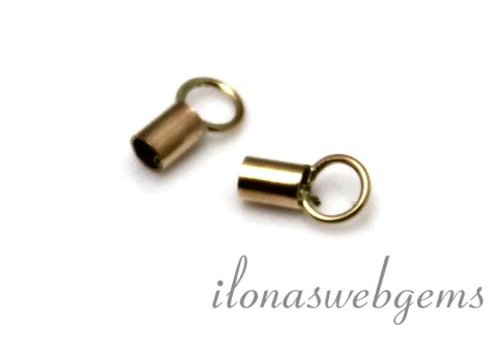 Gold Filled end cap approx 7x2mm