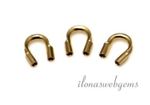 1 stuk 14 karaat gouden draadbeschermer / draadgeleider ca. 4.5mm