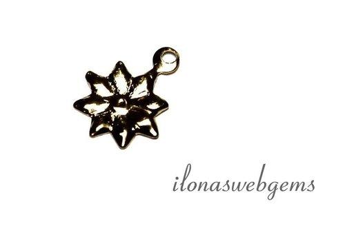 Gold filled Mini Schmuck Anhänger Blume ca. 10x8mm