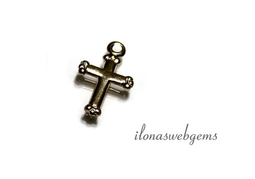 Gold filled Charm Cross app. 14x9mm