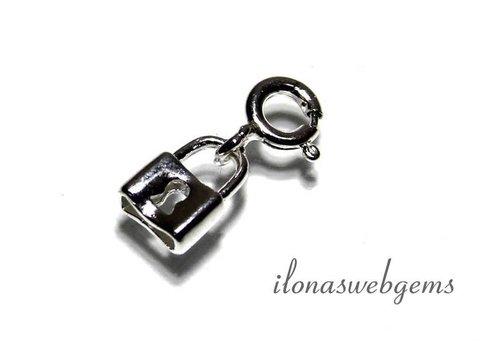 925/000 Silber Mini Schmuck Anhänger slot ca. 8x6mm