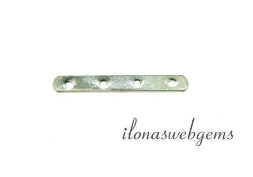 925/000 Silber Verteiler 4 rij ca. 18x2.5x0.5mm