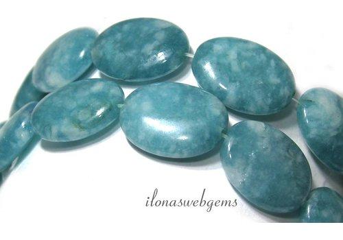 Blue sponge quartz beads around 20x16x6.5mm