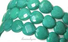 Jade Perlen facettiert Herz ca.15x15x5.5mm