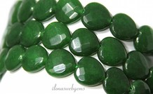Jade beads faceted heart ca.15x15x5.5mm