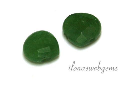 1 Paar Jade Tropfen Facette