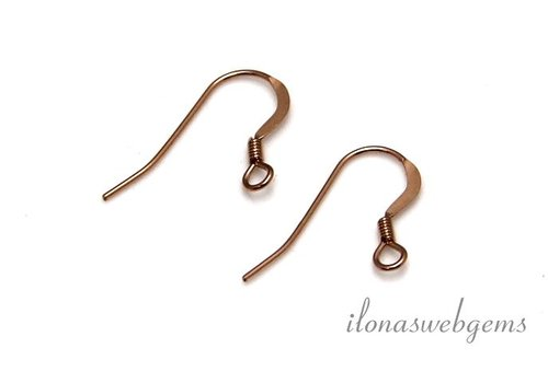 1 pair Rose Gold filled Ear Hooks app. 14mm