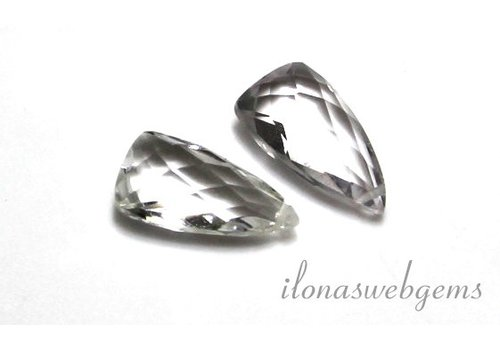 1 paar Bergkristal facet druppel