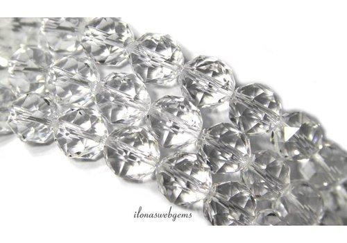 Bergkristal kralen facet rond ca. 12mm