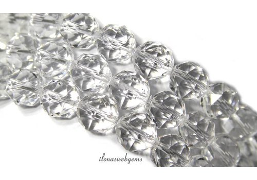 Rhinestone faceted beads round approx 12mm