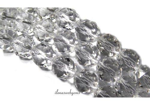 Bergkristal kralen facet rond ca. 10mm