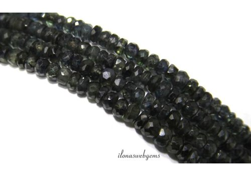Sapphire beads roundel faceted mini about 3.5x2mm