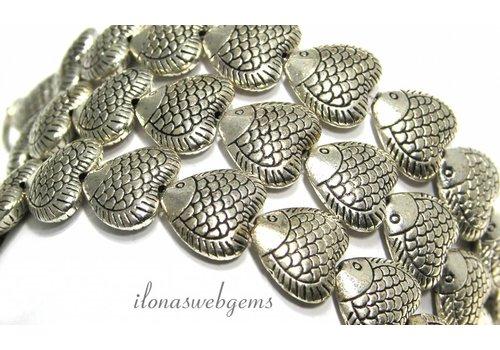 28 Stück Zinn Perlen Fisch