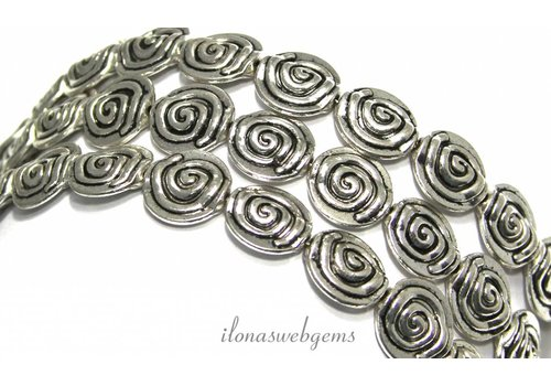 72 pieces pewter beads