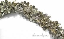 Ca. 100 Stück Zinn Perlen Blume
