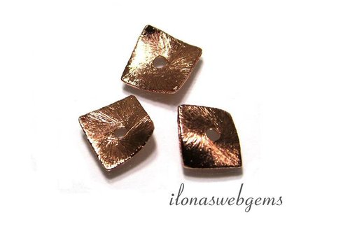 1 stuk Rosé gold plated chips ca. 8x8mm