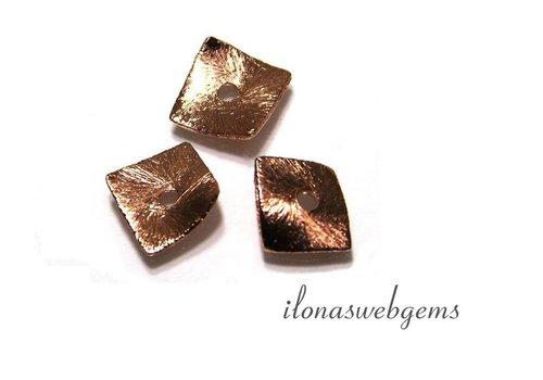 20 Stück 'Rosé Gold` Chips plattiert ca. 10x10mm