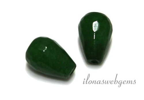 1 Paar Jade Facette fällt
