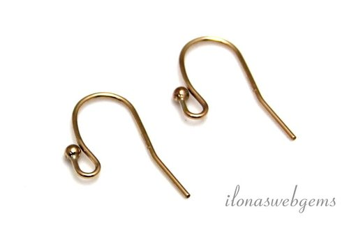 1 pair of Gold filled earring hooks approx. 18x10mm