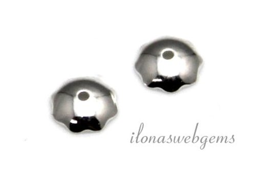 Sterling Silber Perle Kappe 5mm