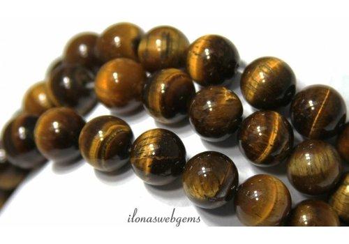 Tigereye Perlen etwa 8mm