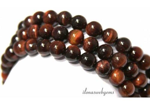 Tigereye rote Perlen um etwa 8 mm