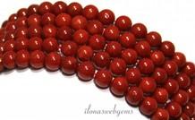 Coral Perlen rot 'alte holländische' rund um 6mm