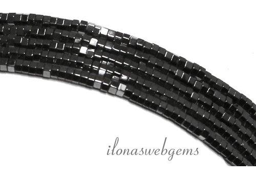 285 stuks Hematiet kralen mini 6-hoek ca. 1.4mm