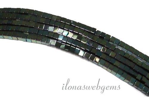 ca. 190 stuks Hematiet kralen mini blauw-groen ca. 2mm