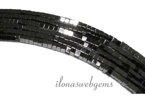 285 stuks Hematiet kralen mini vierkant ca. 1.4mm