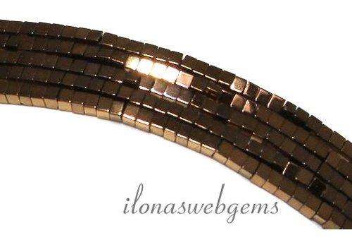 ca. 190 stuks Hematiet kralen mini brons ca. 2mm