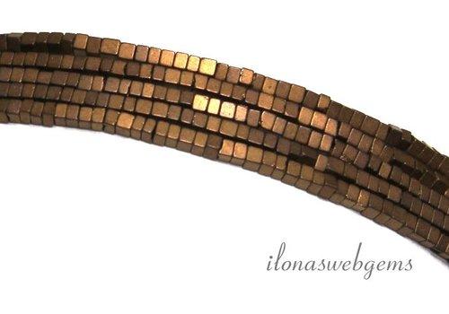 285 pieces Hematite beads mini bronze approx. 1.4mm