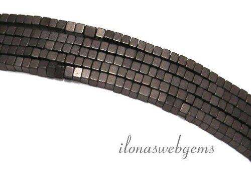 285 stuks Hematiet kralen mini grijs-bruin ca. 1.4mm