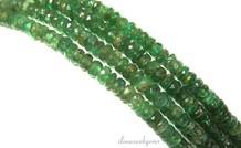 1cm Smaragd Perlen Facette Rondelle