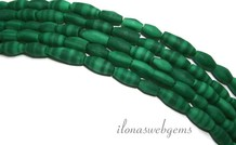 Tibetanische Malachiet Perlen ca. 3x6mm