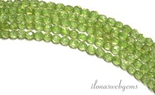 Peridot Perlen mini rings um 2.2mm facettierten