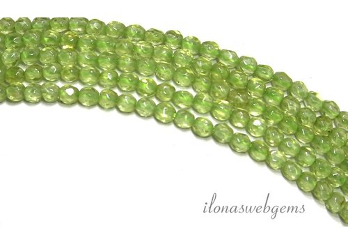 Peridot beads faceted mini round about 2.2mm